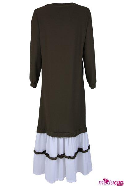 Fırfır Detay Elbise