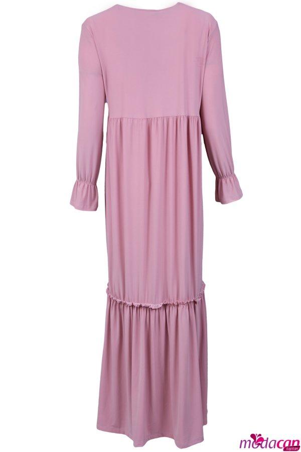 Güpür Yaka Elbise