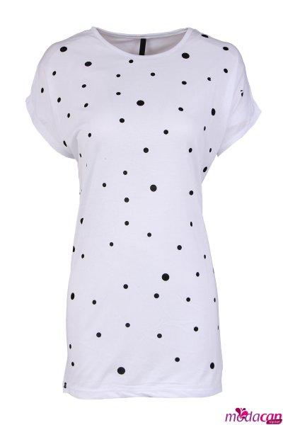 Puantiye Desenli Tişört
