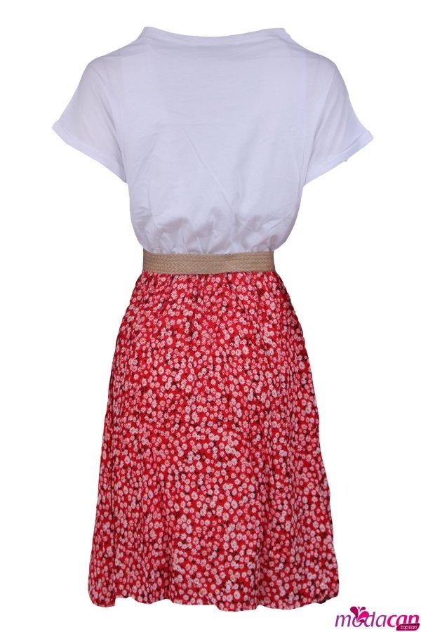 Eteği Desenli Elbise
