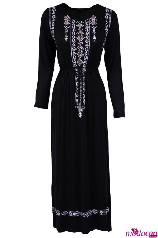 Klim Desenli Elbise