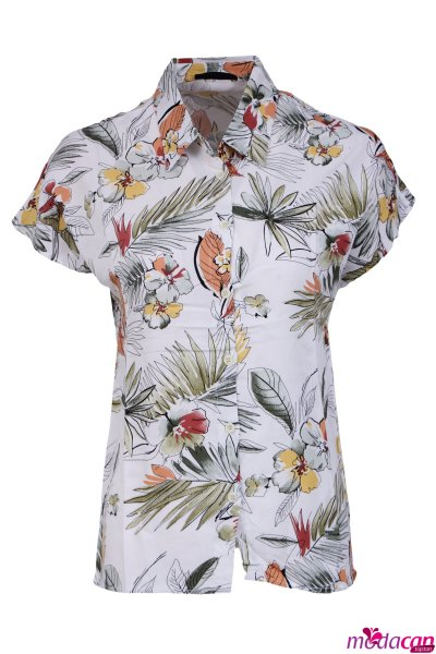 Desenli Kısa Kol Gömlek