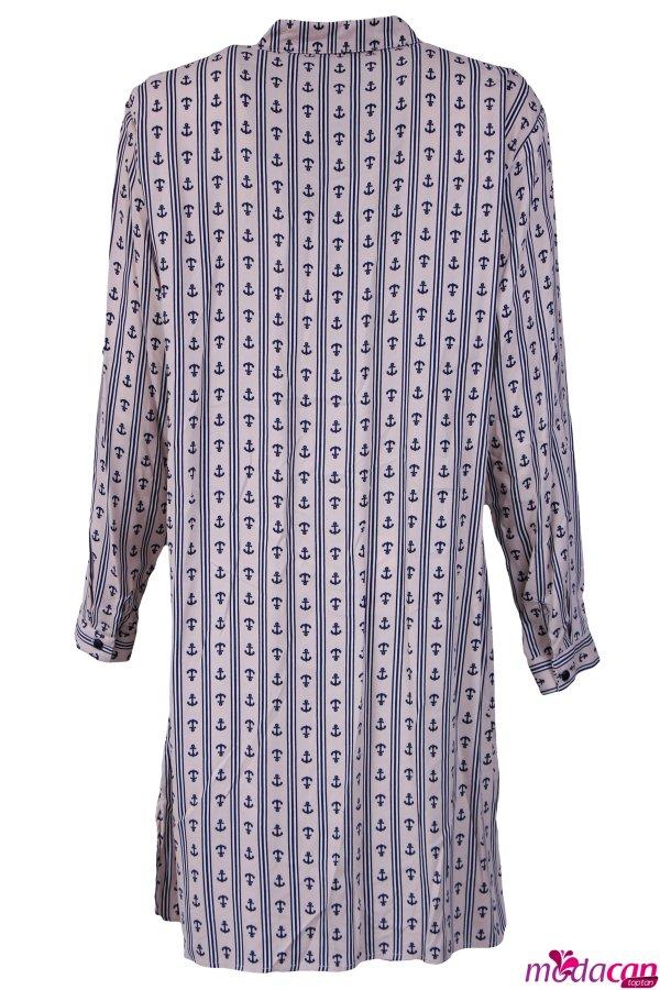 Gömlek Yaka Uzun Tunik