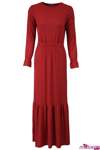 Bel Lastikli Elbise