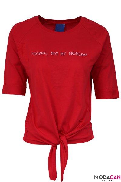Ön Bağlamalı Tişört