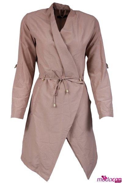 Kolu Apoletli Bağlamalı Ceket