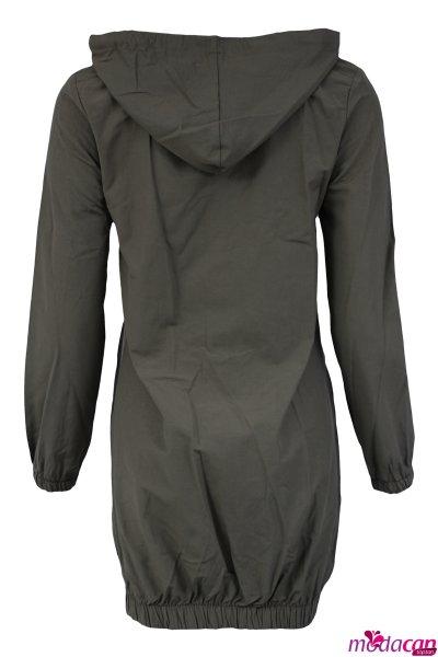 Torba Cepli Düğmeli Ceket