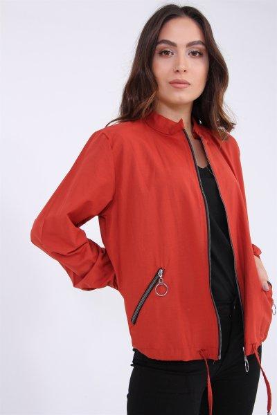Fermuarlı Kısa Ceket
