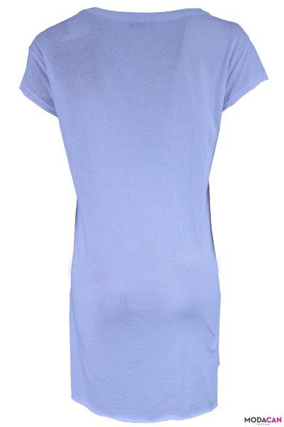 Uzun V Yaka Tişört