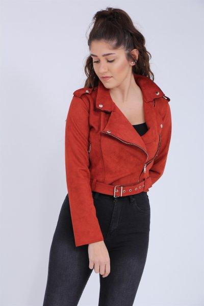 Kısa Süet Ceket