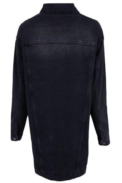 Yırtık Detaylı Kot Ceket