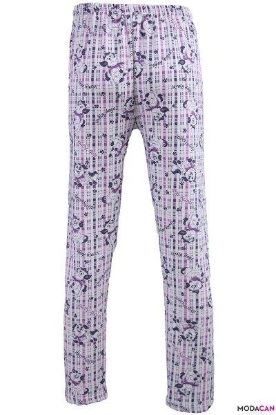 Baskılı İçi Polarlı Pijama Altı