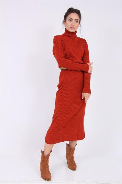 Boğazlı Tirko Elbise