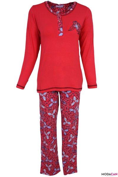 Çiçek Desenli Pijama Takımı