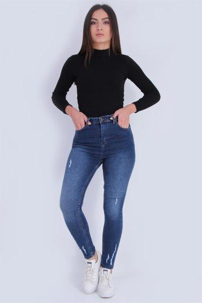 Yırtıklı Jeans Pantolon