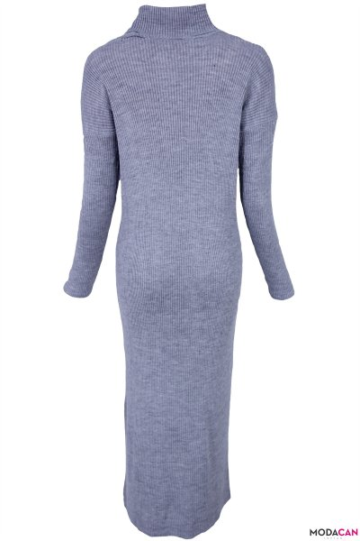 Boğazlı Triko Elbise