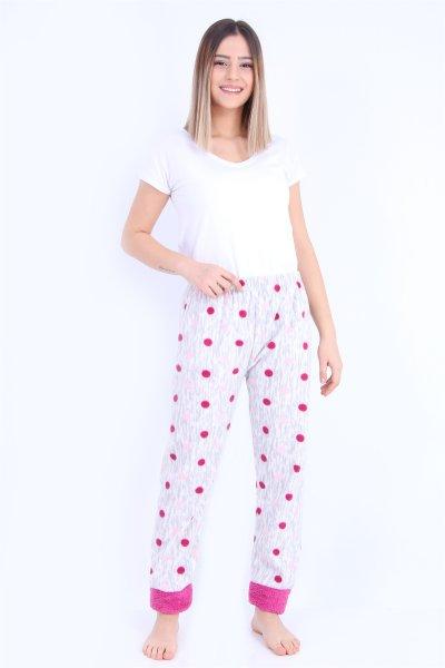 Polarlı Pijama Altı ( Battal Beden )