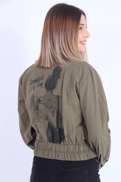 Baskılı Ceket