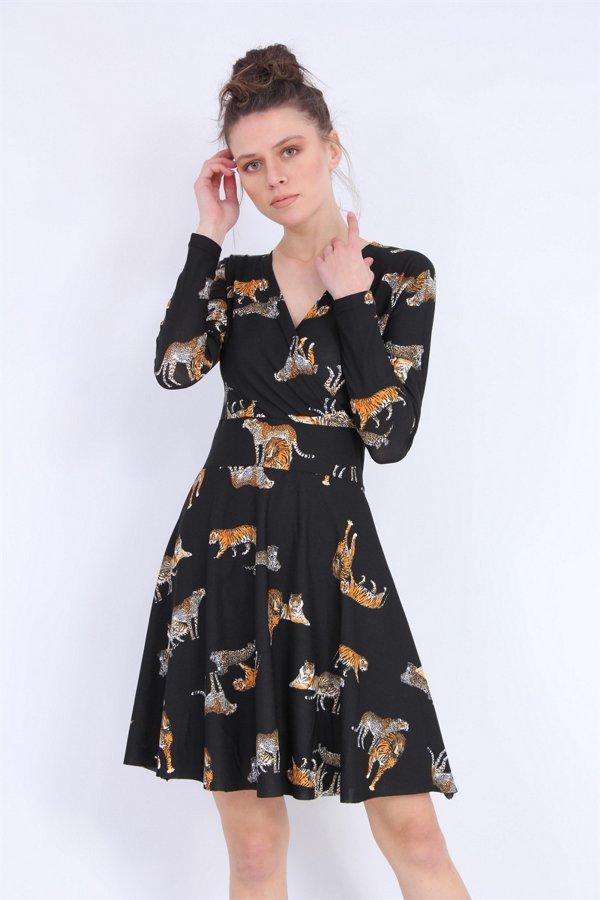 Kaplan Desenli Elbise