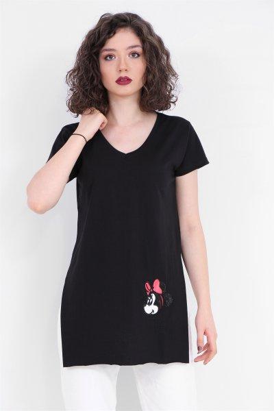 Mickey Baskılı Tişört